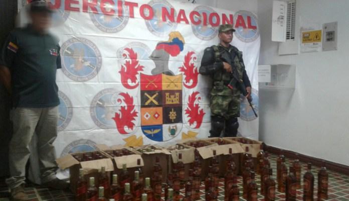 Autoridades en Garzón, decomisan gran cantidad de licor presuntamente adulterado