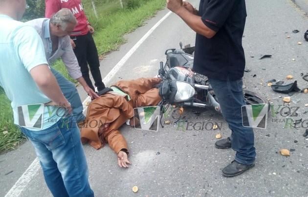 Concejal de Timaná resultó herido tras sufrir aparatoso accidente de transito