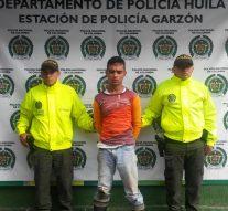 CAPTURADO POR EL DELITO DE HOMICIDIO EN GARZÓN