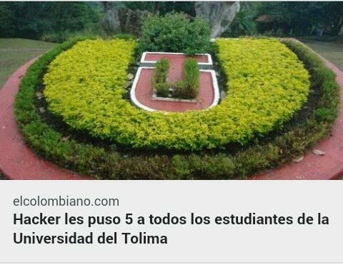 Hacker les puso 5 a todos los estudiantes de la Universidad del Tolima