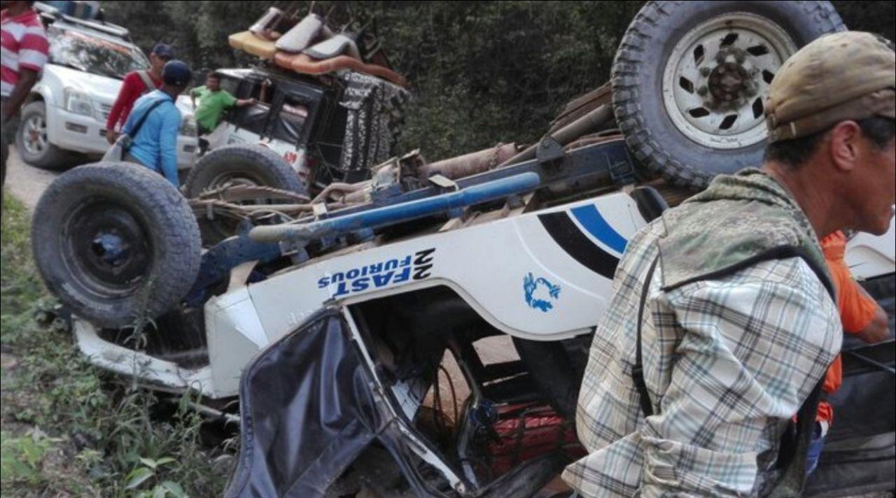Accidente de transito en vereda de El Pital, deja una persona herida