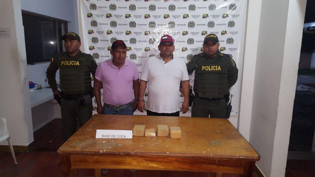 Capturada pareja transportando base de cocaína cerca al Pital