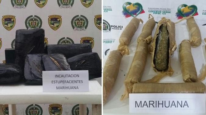 Caen más cargamentos de marihuana en el Huila, otros 16 kilos fueron incautados
