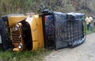 Vehículo de transporte escolar se accidentó en vereda de Iquira