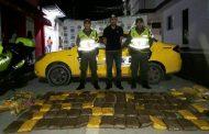Capturan taxista por transportar gran cantidad de marihuana
