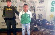 CAPTURADO CON MOTOCICLETA HURTADA Y VEHÍCULO ABANDONADO CON ESTUPEFACIENTES EN TERUEL