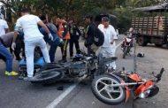 Tres heridos por choque de motocicletas en la vía Neiva – Campoalegre