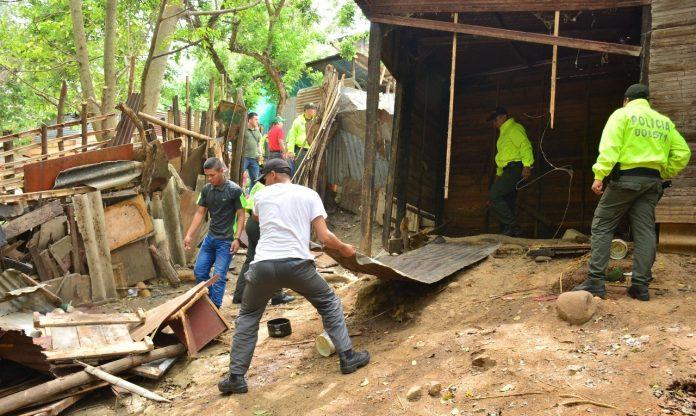 Tres viviendas de Neiva fueron demolidas por ser expendios de estupefacientes