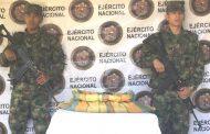 Más de 12 kilogramos de pasta base de cocaína, fueron incautados por el Ejército