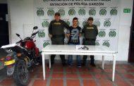 Capturado por portar un arma de fuego ilegal en Garzón