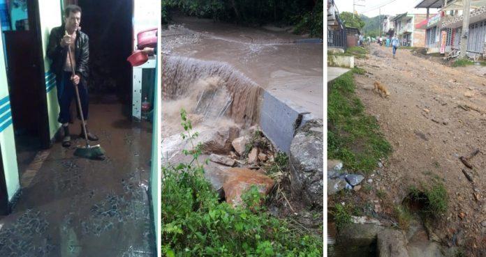 Emergencia en Gallardo Suaza por incremento de las lluvias, varias familias damnificadas