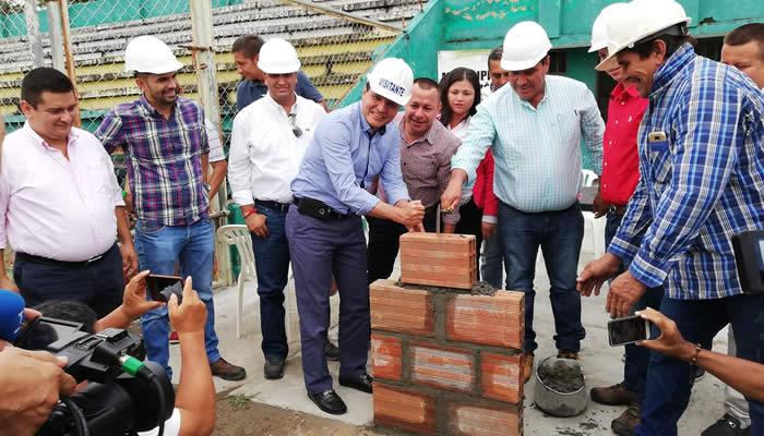 Iniciaron obras para la remodelación del estadio de Garzón