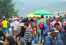 Con una nueva concentración, indígenas taponaron la vía Pitalito-Mocoa