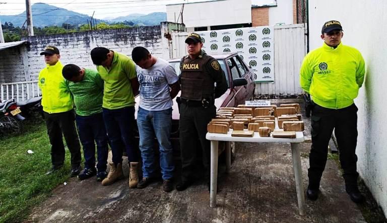 Dos incautaciones de marihuana hicieron autoridades en Pitalito y Gigante