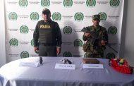 INCAUTAN  MARIHUANA Y ARMA DE FUEGO EN SALADOBLANCO