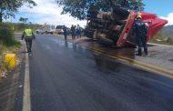 Accidente vehicular en el sector Los Altares entre Gigante y Hobo