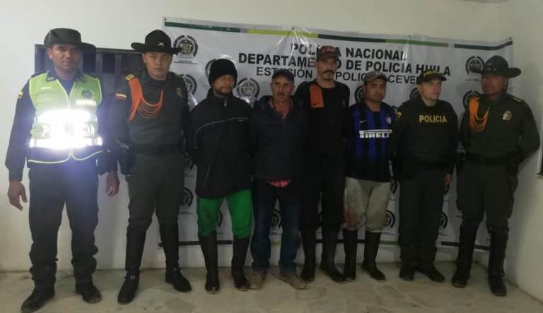 Cuatro hombres capturados en Acevedo por operar en matadero clandestino