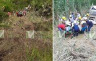 Aparatoso accidente en zona rural del Garzón
