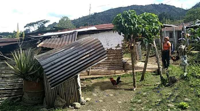 Vendaval causó daños en viviendas de dos veredas en Gigante