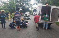 Accidente en cercanías a Gigante dejó dos motociclistas heridos